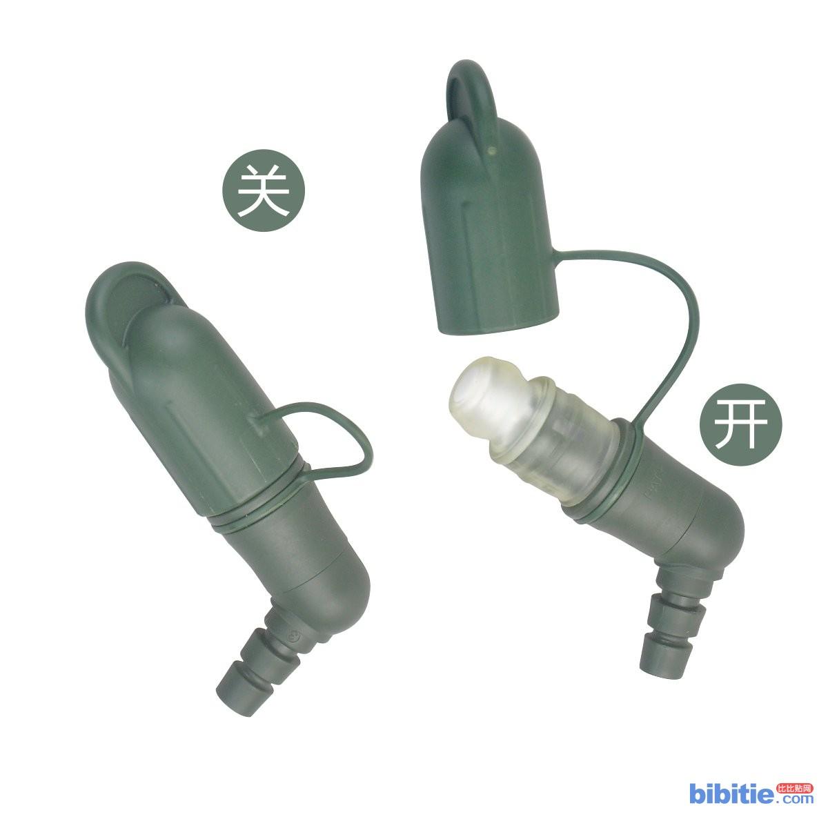 户外饮水袋配件吸嘴组硅胶安全卫生军绿弯头咬嘴图片
