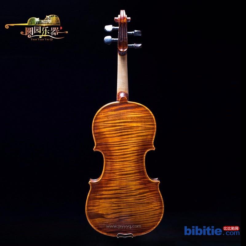 圆园 大量供应4/4**小提琴 yyv026 天然花纹 浅咖啡色小提琴 纯手工制作图片