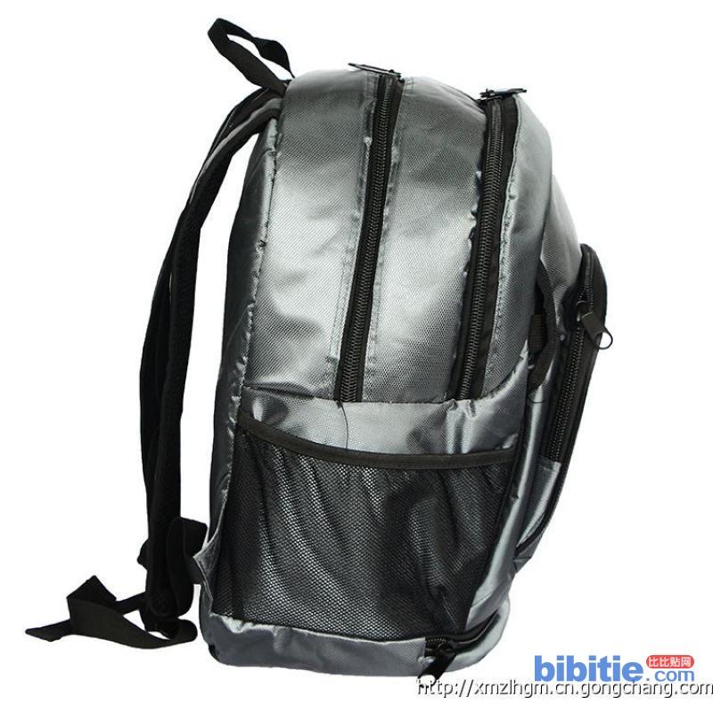 厂家批量定制时尚银男女双肩背包笔记本电脑包中学生书包图片
