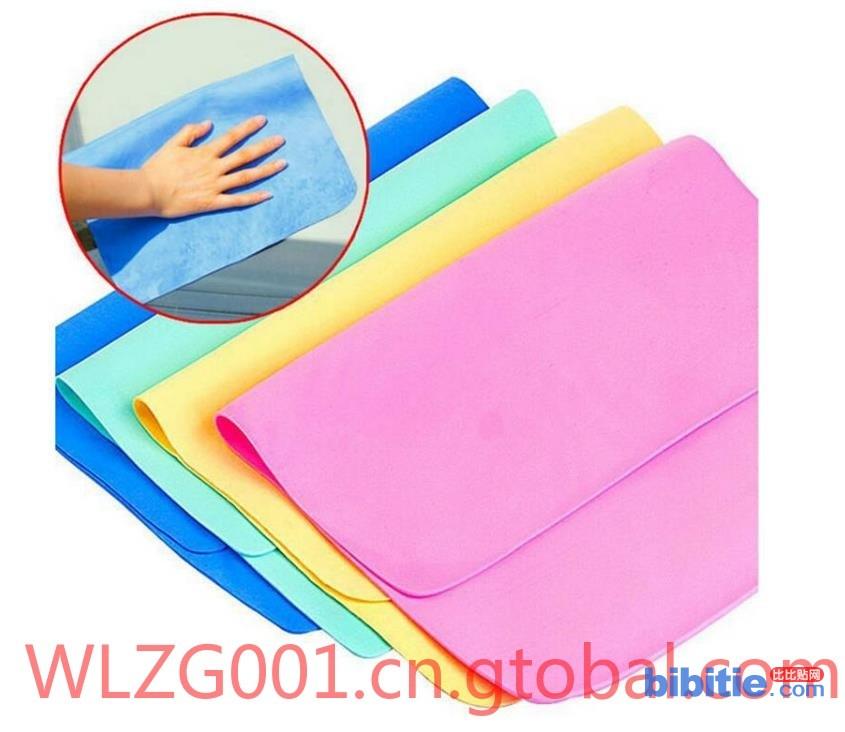 专业生产PVA吸水海绵毛巾 多功能吸水鹿皮巾图片
