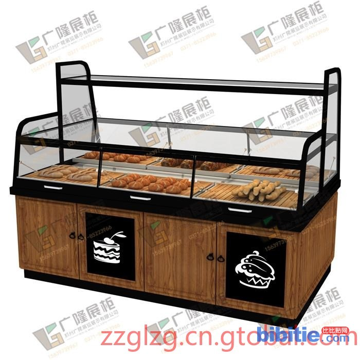 具有良好口碑的面包边柜价位——简约烘焙展柜图片