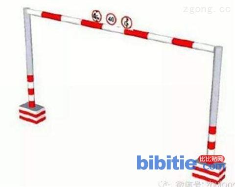 智能路口限高架大跨度限高杆电动液压龙门架图片