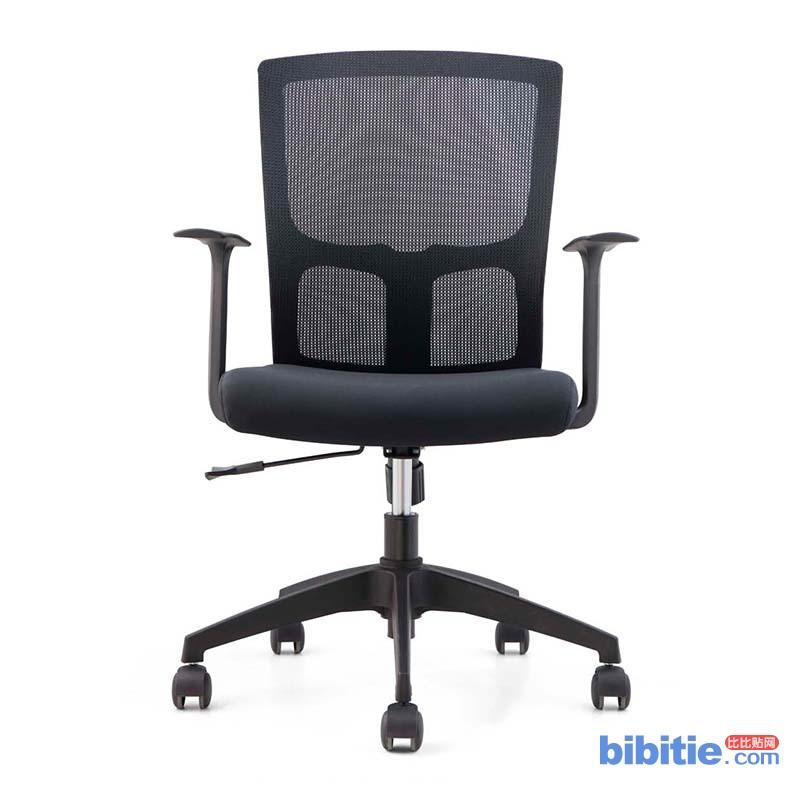 辉煌雅格会议电脑椅 简约现代家用网布弓形办公椅 可升降职员椅图片