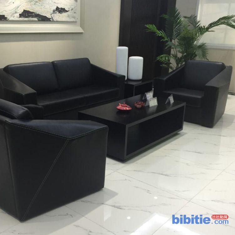 简约办公组合沙发 休闲洽谈舒适靠背沙发 待客洽谈沙发批发定制图片