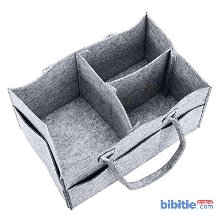 加工定制尿不湿毛毡收纳袋 婴儿尿布手提收纳包 纸尿裤收纳篮图片