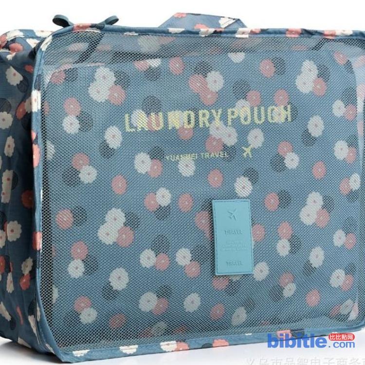 印花六件套旅行整理包收纳袋 便携式洗漱包 厂家直销图片