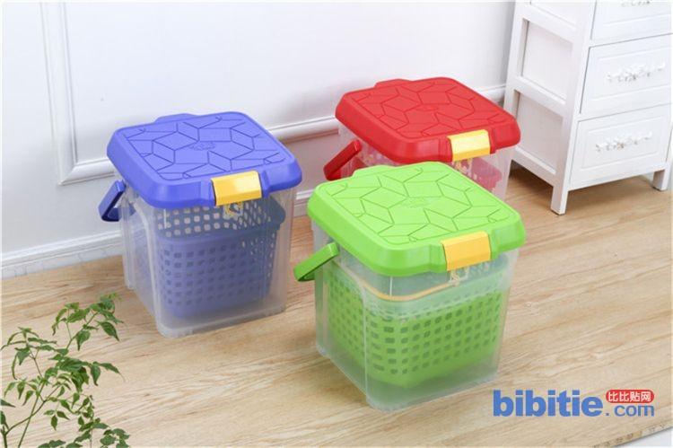 厂家直销钓鱼箱 带盖方形手提箱 多功能加厚可坐塑料钓鱼桶批发图片