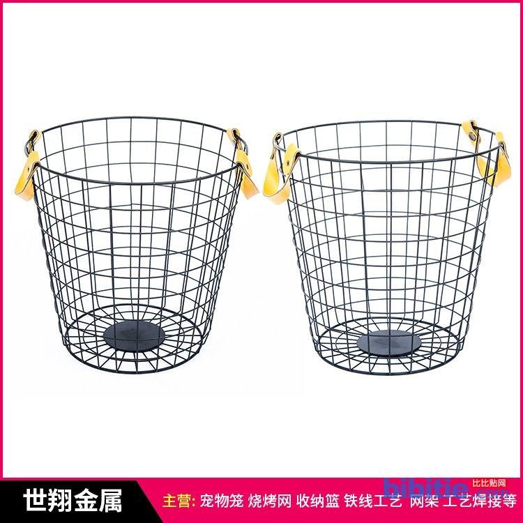 铁艺置物篮 家居收纳篮 铁线网筐 欢迎定做 铁线制品加工定制图片