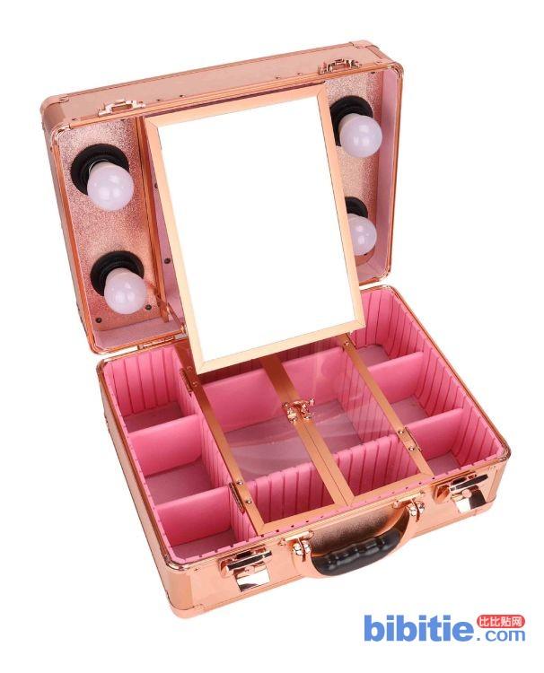 创葳厂家专业铝箱[定制订造]跟妆彩妆纹绣美发带灯手提收纳工具箱图片