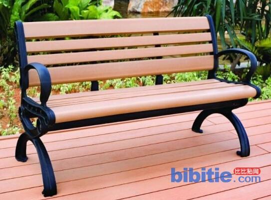 天津公园/小区用带靠背实木休闲座椅图片