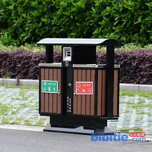 天津小区公园用各式垃圾桶批发图片