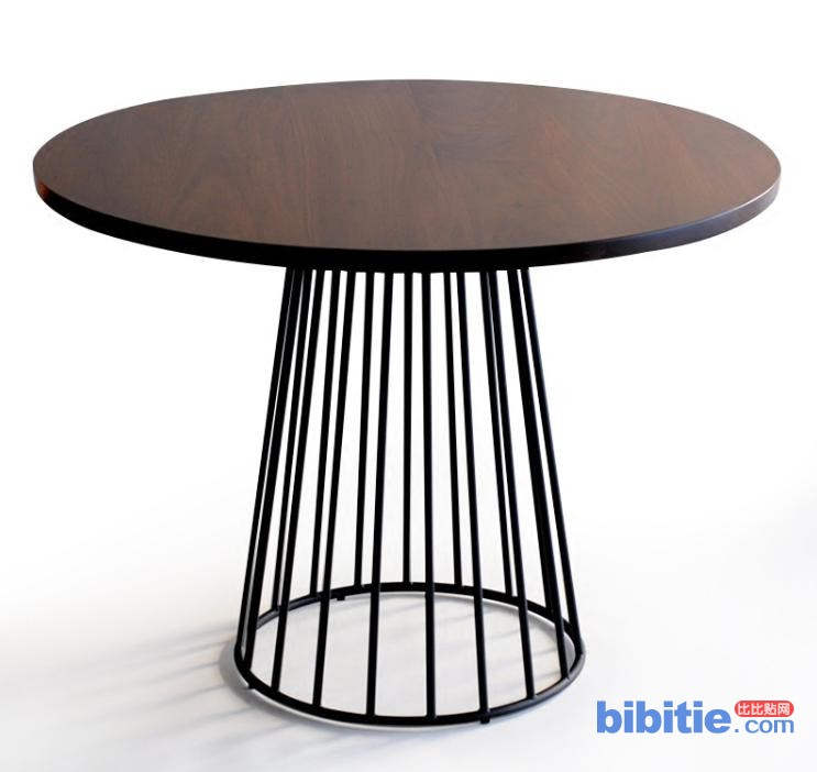 美式圆形圆餐桌实木西餐厅休闲桌大圆桌会议桌咖啡厅桌椅简约图片