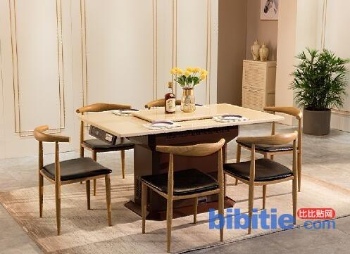 韩博智能餐桌:餐厅装修为什么很多人喜欢大理石餐桌图片