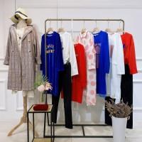 原创设计师依沐瑶20春品牌折扣女装尾货批发直播 菲诺格诺女装图片