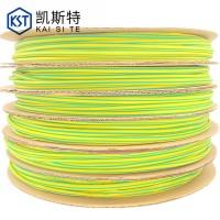 供应黄绿热缩管 黄绿双色热缩管 地线标识用套管 黄绿相间图片