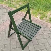 兵用高品质部队便携式野战钢木折叠椅户外折叠凳训练椅图片
