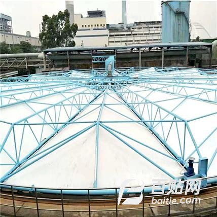 膜结构污水池顶棚膜自行车棚充电桩PVC膜布遮阳篷布加工定做安装图片
