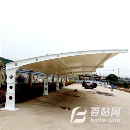 汽车棚膜结构斜拉杆轿车停车篷小区电动车遮阳篷张拉膜停车棚雨棚图片