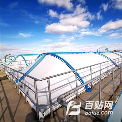 膜结构污水池防雨遮阳篷废水处理厂膜结构反吊膜 环保设施图片