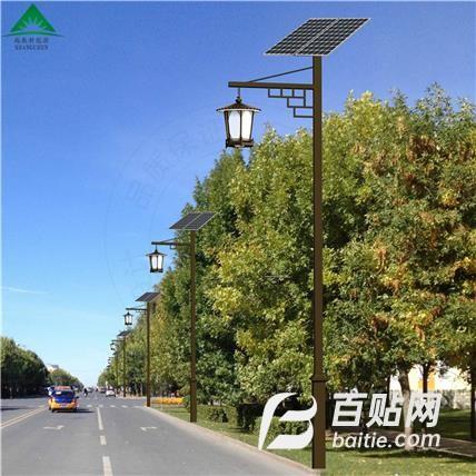 厂家直销太阳能路灯 新农村LED照明一体化太阳能路灯图片
