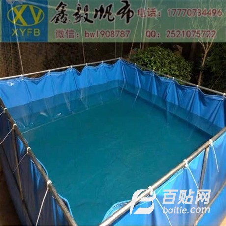 帆布水池生产厂家-帆布鱼池价格图片