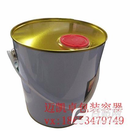 厂家供应涂白7升7l圆闭口油桶金属包装桶铁桶油漆油墨桶图片