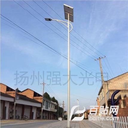 厂家定制新农村户外led路灯6米8米分体高亮工程款太阳能路灯图片