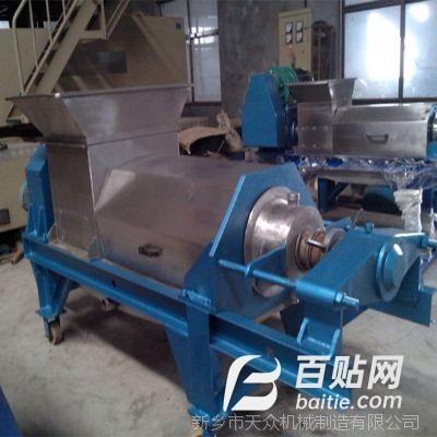 环保脱水机械餐厨垃圾脱水处理双螺旋压榨机厂家、挤压机脱水率60图片