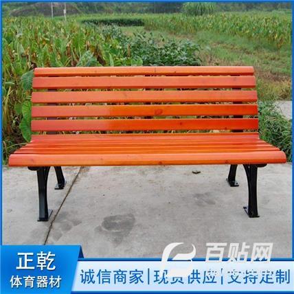 休闲靠背实木户外椅-防腐实木休闲椅-铁艺凳子长椅-公园休闲椅-户外休闲椅图片
