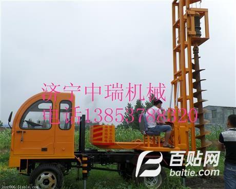拖拉机打桩机 拖拉机打桩机厂家  拖拉机打桩机价格图片