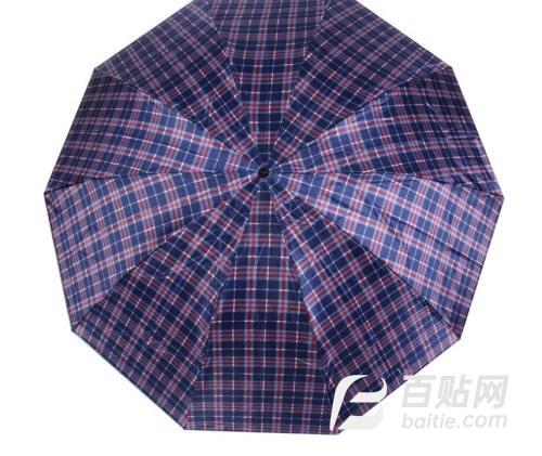 厂家直销色丁格子加大防晒伞  商务格子伞图片