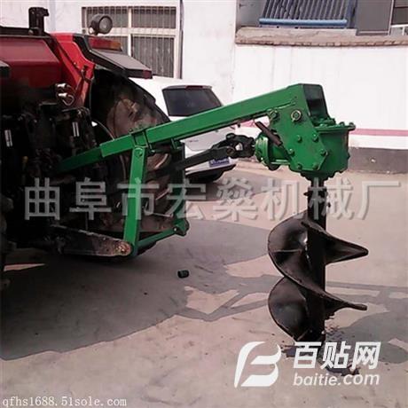 50马力拖拉机挖坑机 拖拉机挖坑机厂家图片