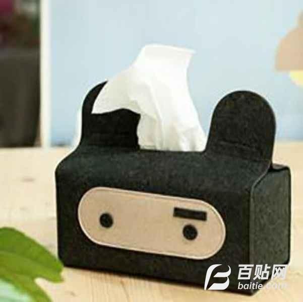 新颖毛毡抽纸盒销售图片