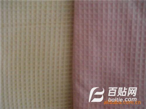 供应T/C华夫格混纺坯布图片