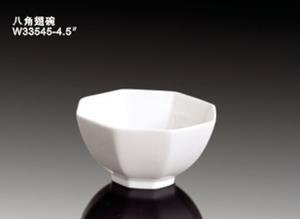金维美陶瓷/搪瓷制品镁质瓷八角翅碗W33545-4图片