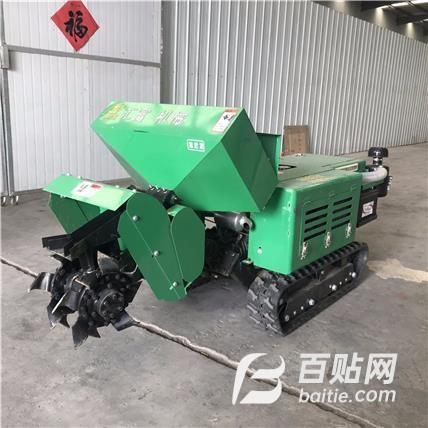 土壤耕整机械 果园旋耕机 自走式果园开沟机 履带多功能管理机图片