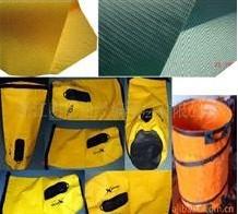 PVC垃圾桶布、垃圾桶面料、PVC箱包布、PVC夹网布图片
