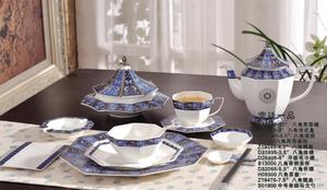金维美供应高端陶瓷餐具桌面餐具整套八角系列宫廷一品12件图片