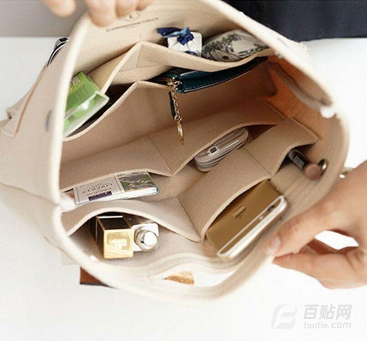 厂家直销 可定制毛毡包 毛毡化妆包 毛毡收纳包 化妆品收纳整理袋图片