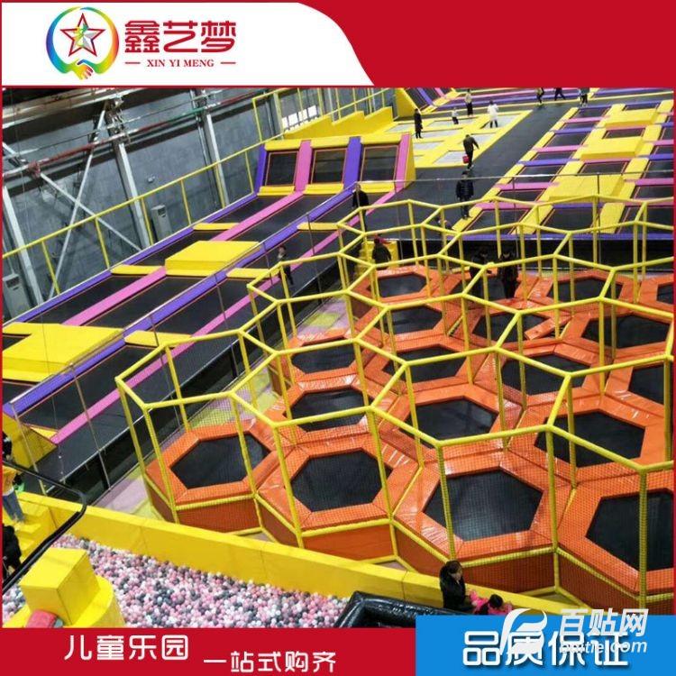 源头厂家定做新款商场室内大型成人蹦蹦床 超级大蹦床组合乐园图片