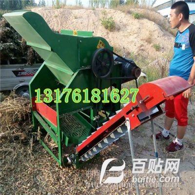 全自动上料干湿花生处理农用机械 喂入式大宽幅花生揪果机 摘果机图片