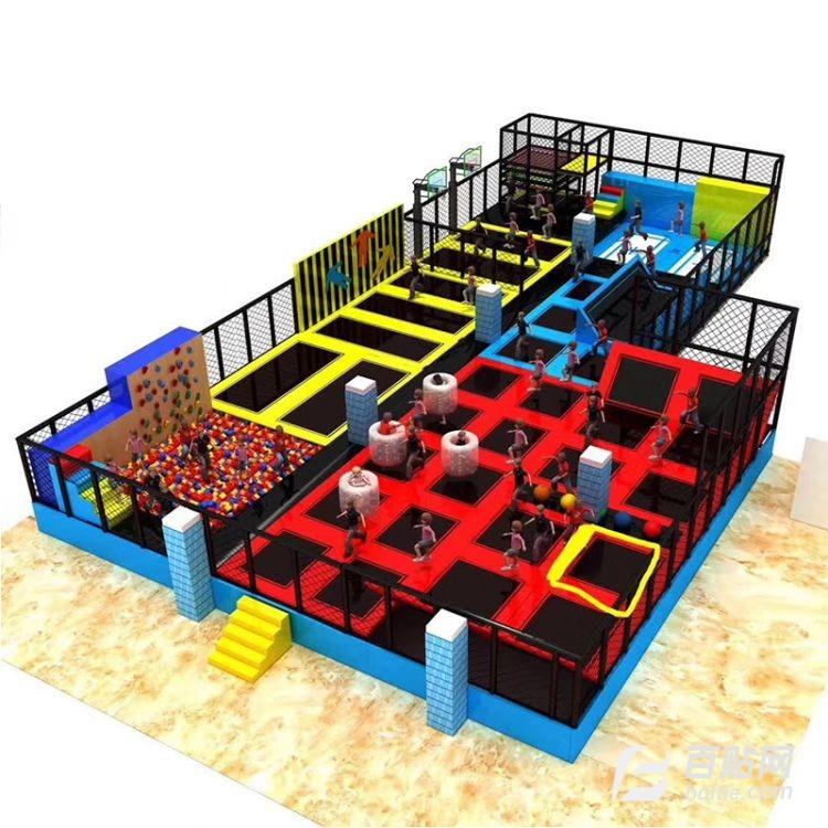 网红新款儿童淘气堡乐园 商场大型滑梯蹦床淘气堡游乐设备图片