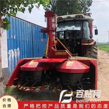 拖拉机带轮式地滚刀秸秆粉碎青储机全自动多功能玉米秸秆青贮机图片