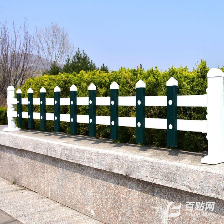 草坪护栏  公园小区学校塑钢栅栏 园林园艺绿化带围栏 pvc护栏图片