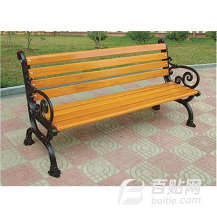 2020新款 户外公园休闲长椅 长春厂家定制铁艺异形休闲坐凳广场防腐实椅子庭院座椅长凳子图片