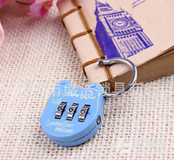 韩国迷你时尚款可爱密码锁爱情锁卡通日记本锁箱包锁 CR-19图片