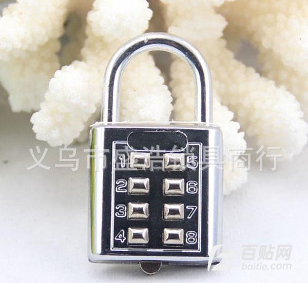 批发八位按键密码挂锁 密码锁箱包锁 盲人锁 CJSJ  CH图片