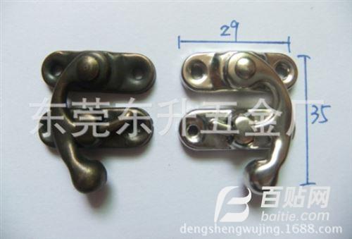 供应箱包锁,牛角锁,铁皮锁扣,礼品盒锁扣 锌合金牛角锁图片