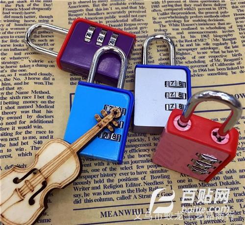 健身房锁 厂家批发高档密码锁 卡通密码锁 箱包锁图片