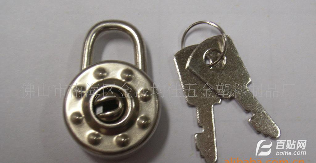 文具挂锁/风琴盒锁/箱包锁/A101铁皮圆形锁图片